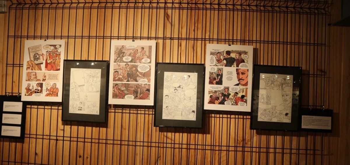 La muestra 'Cervantes y el Quijote en los Tebeos' se expone en la sala de exposiciones del Bretón 2