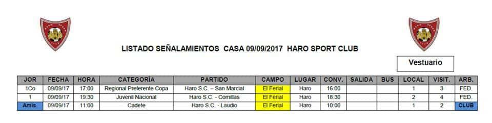 Primeros partidos oficiales para el Haro Sport Club 2