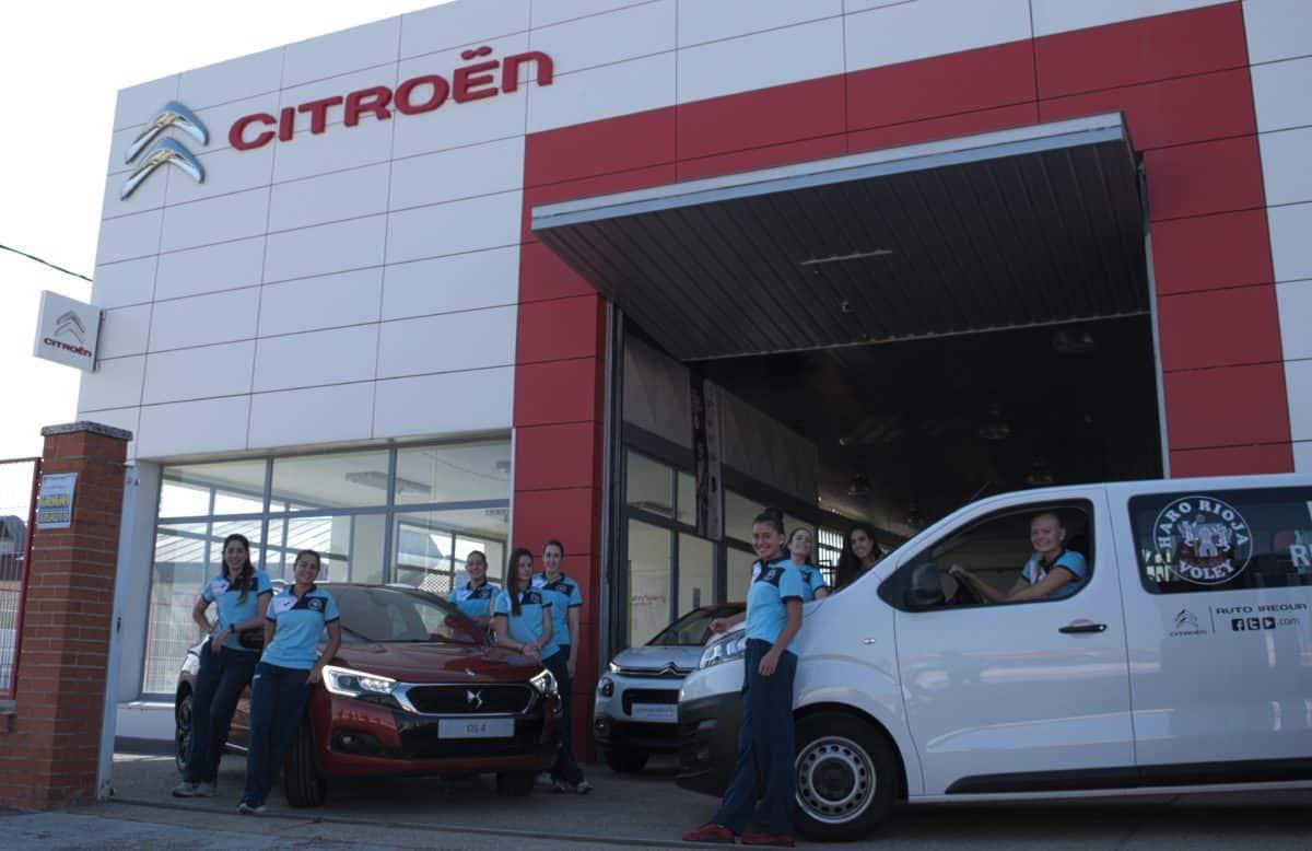 Talleres Juper y Auto Iregua ceden una Citroën Jumpy al Haro Rioja Voley 1
