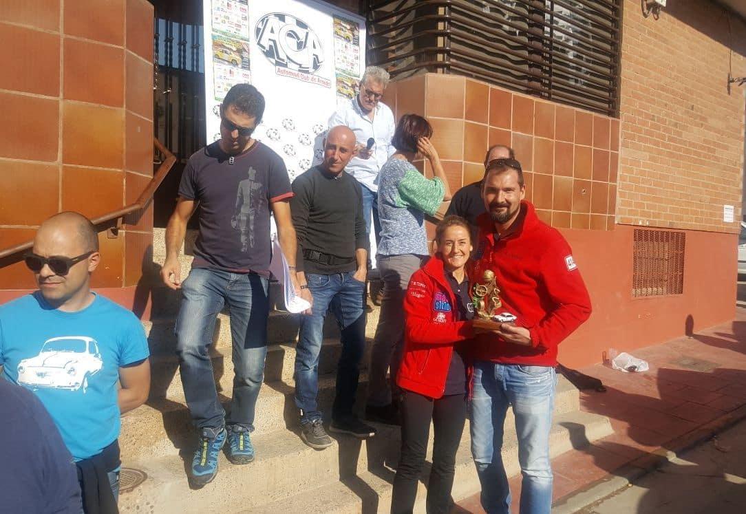 Álvaro Tecedor y Adelaida Alútiz, primeros riojanos en la I Ruta de Regularidad Valle del Alhama-Linares 2