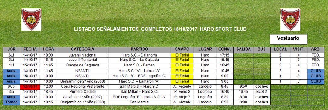 Jueves de Copa para el equipo regional del Haro Sport Club 1