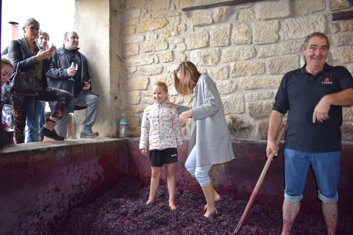 La fiesta del pisado de la uva de Bodegas Lecea 10