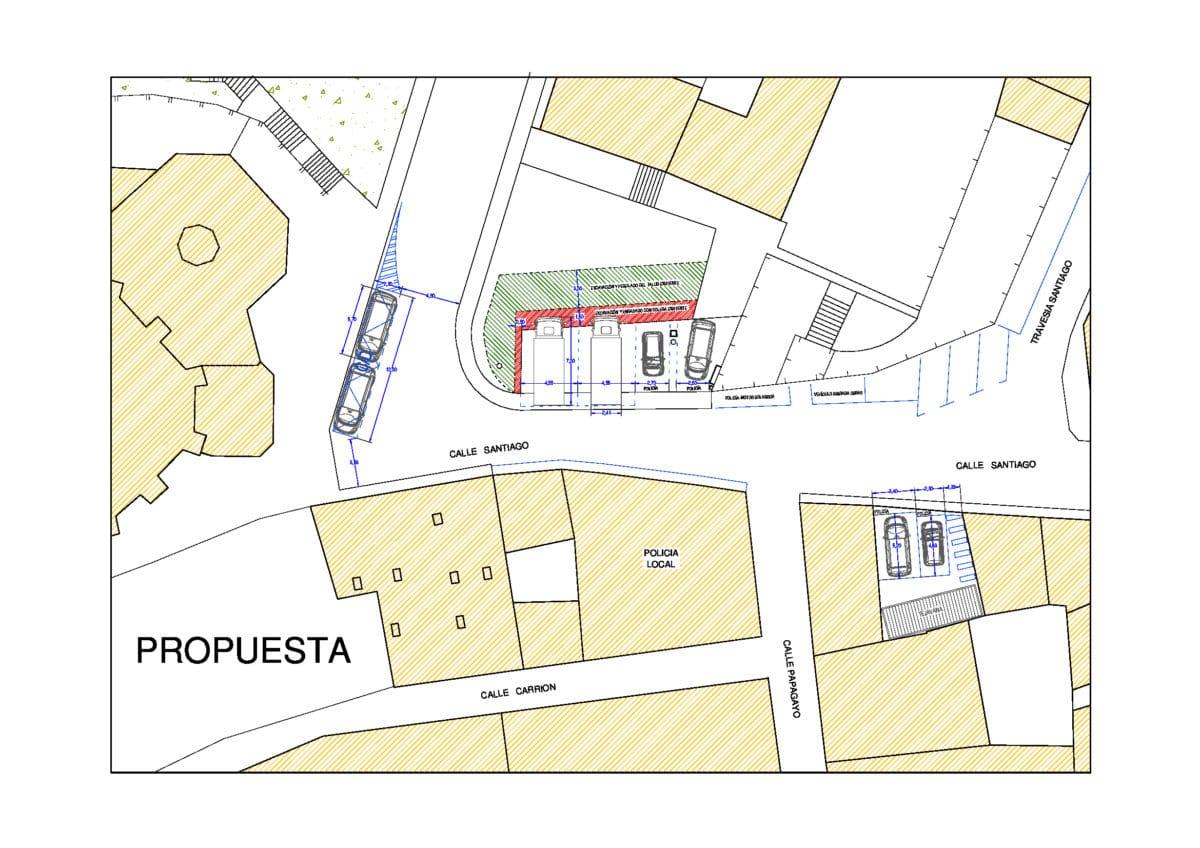 Se establecerán nuevas zonas de carga y descarga en la calle Santiago y se cerrará el acceso a la plaza de la Iglesia 2