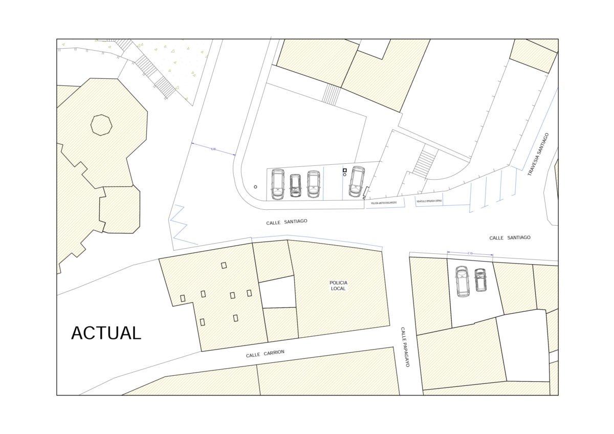 Se establecerán nuevas zonas de carga y descarga en la calle Santiago y se cerrará el acceso a la plaza de la Iglesia 1