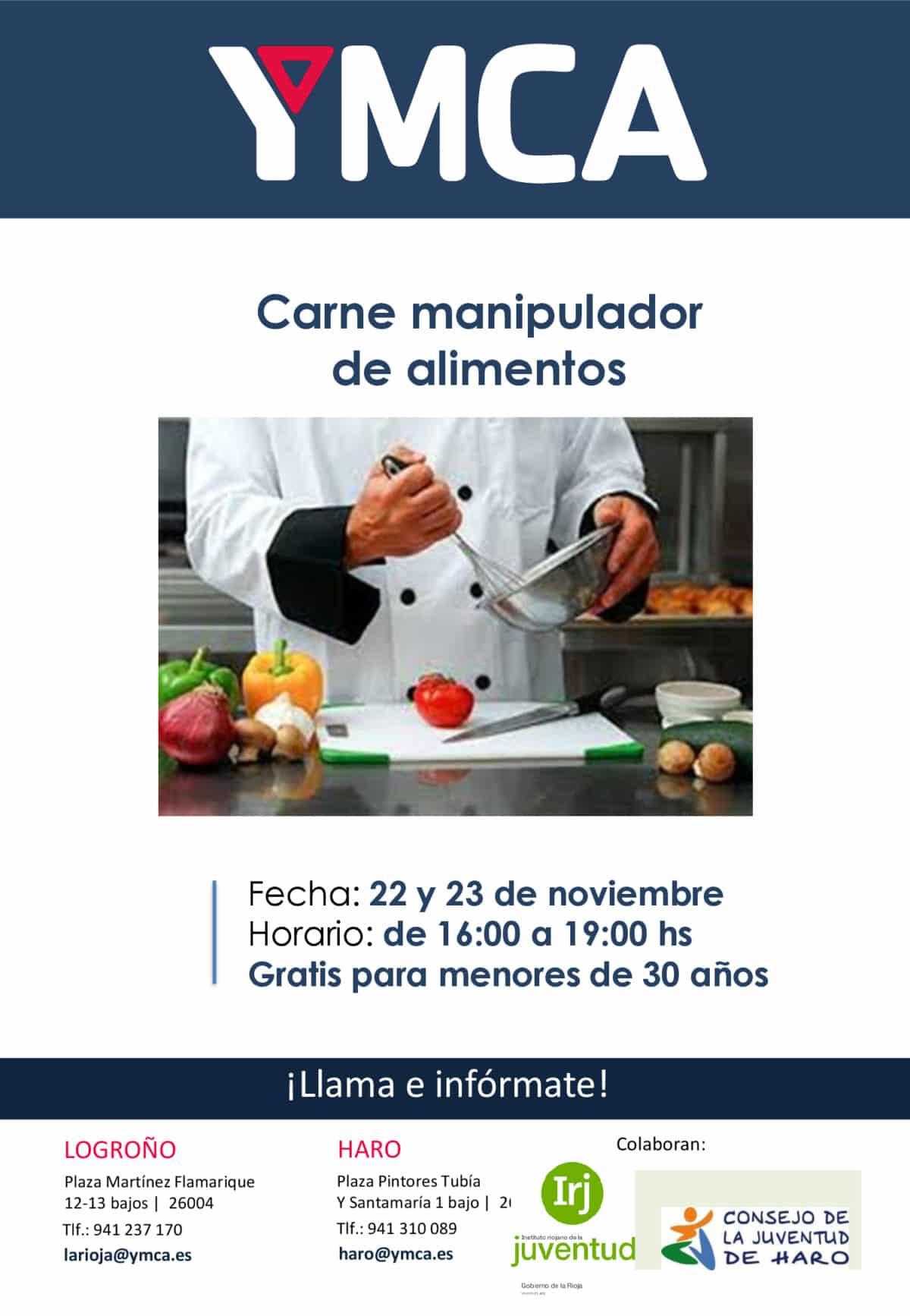 Curso de manipulador de alimentos promovido por YMCA 1