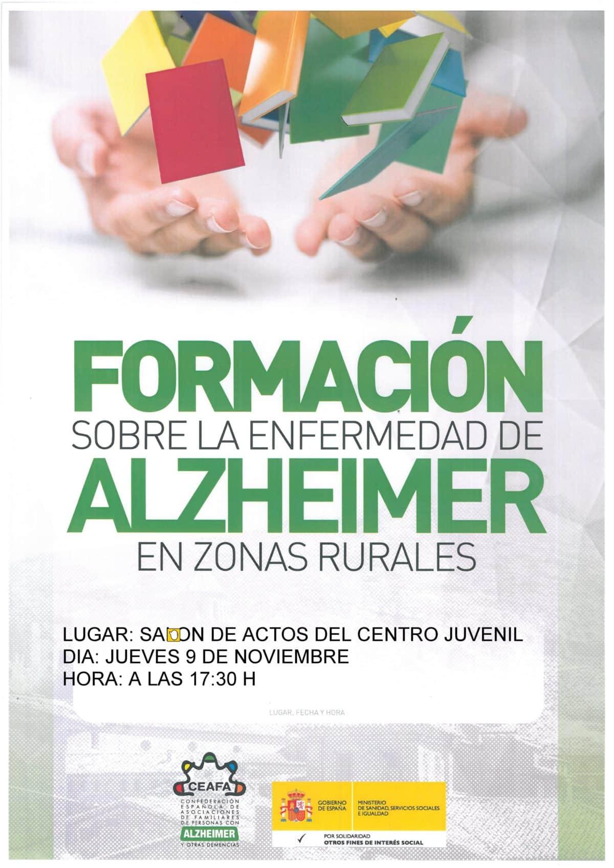 Charla sobre el alzheimer este jueves en Haro 1