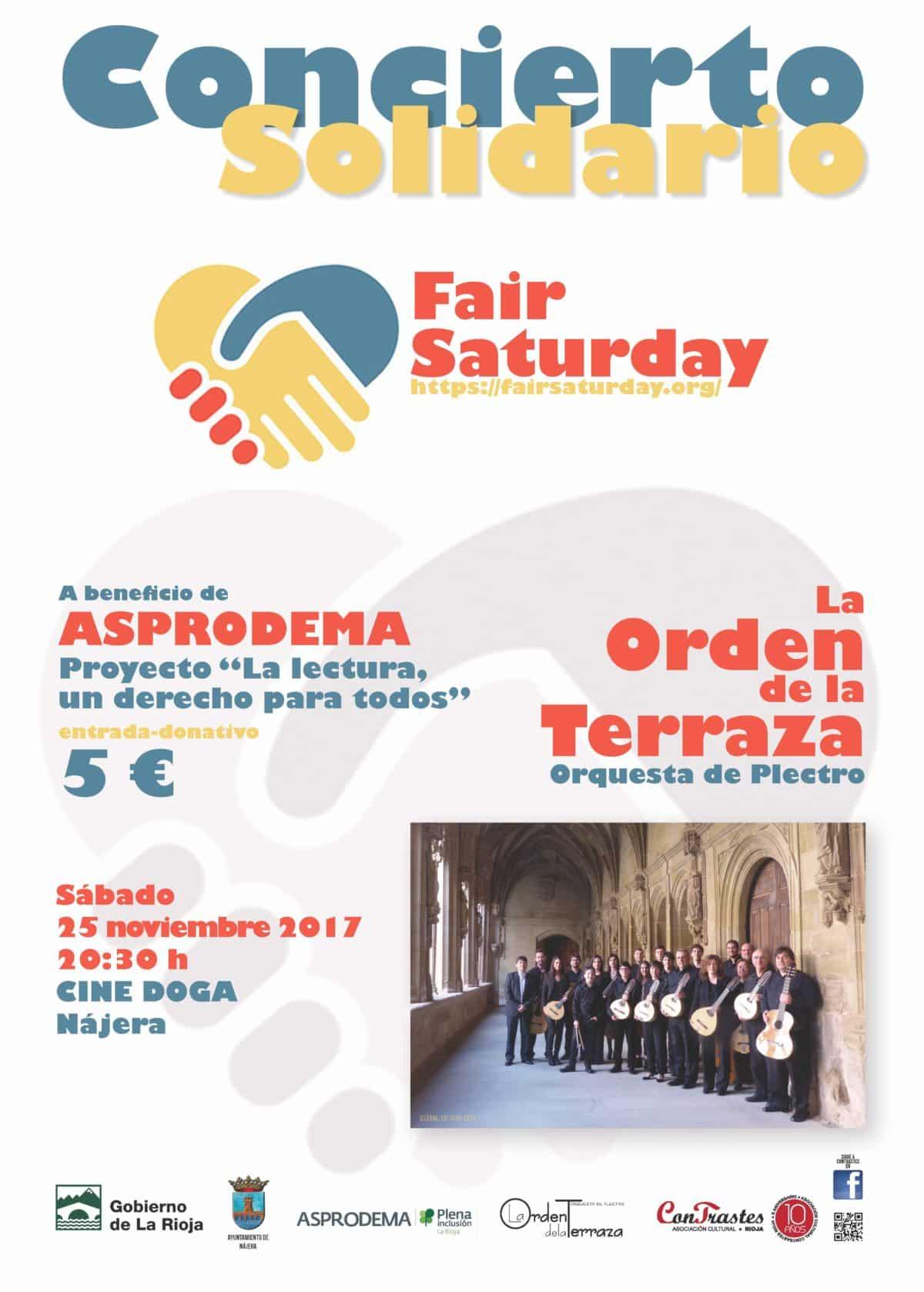 El Cine Doga de Nájera acogerá este sábado un concierto solidario de la Orden de la Terraza a beneficio de Asprodema 1