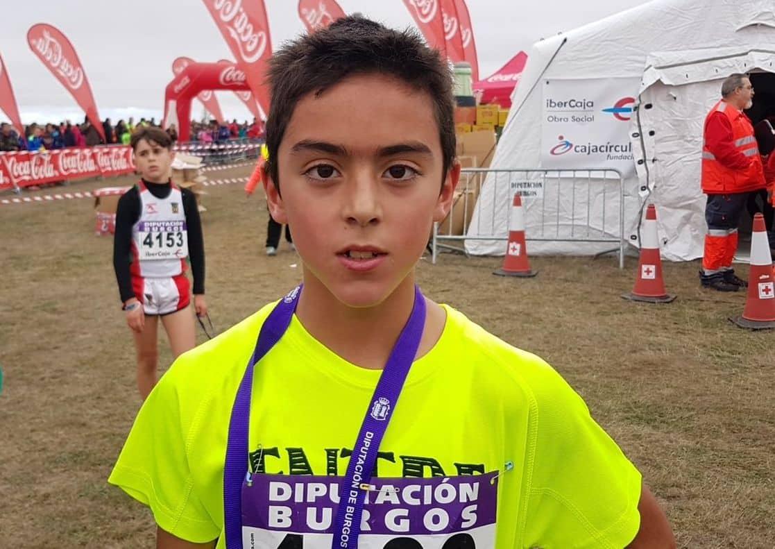 El jarrero Raúl Pérez, ganador del Cross de Atapuerca en la categoría Sub-12 2
