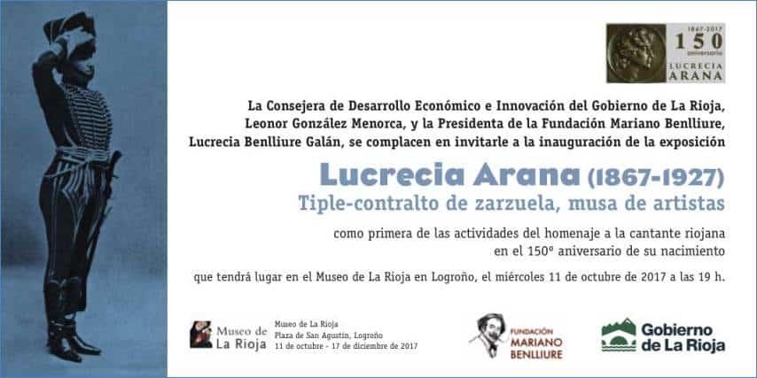 El Museo de La Rioja programa visitas guiadas a la exposición 'Lucrecia Arana Tiple-contralto de zarzuela, musa de artistas' 1