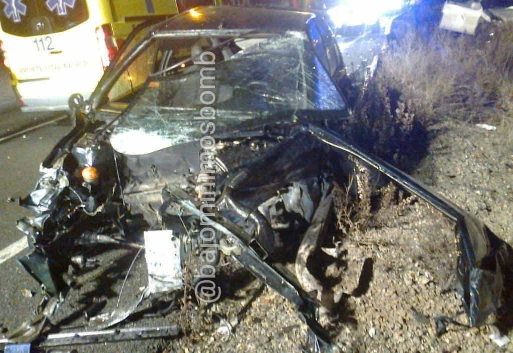 Tres heridos en una colisión múltiple en la N-232 en Fuenmayor 1