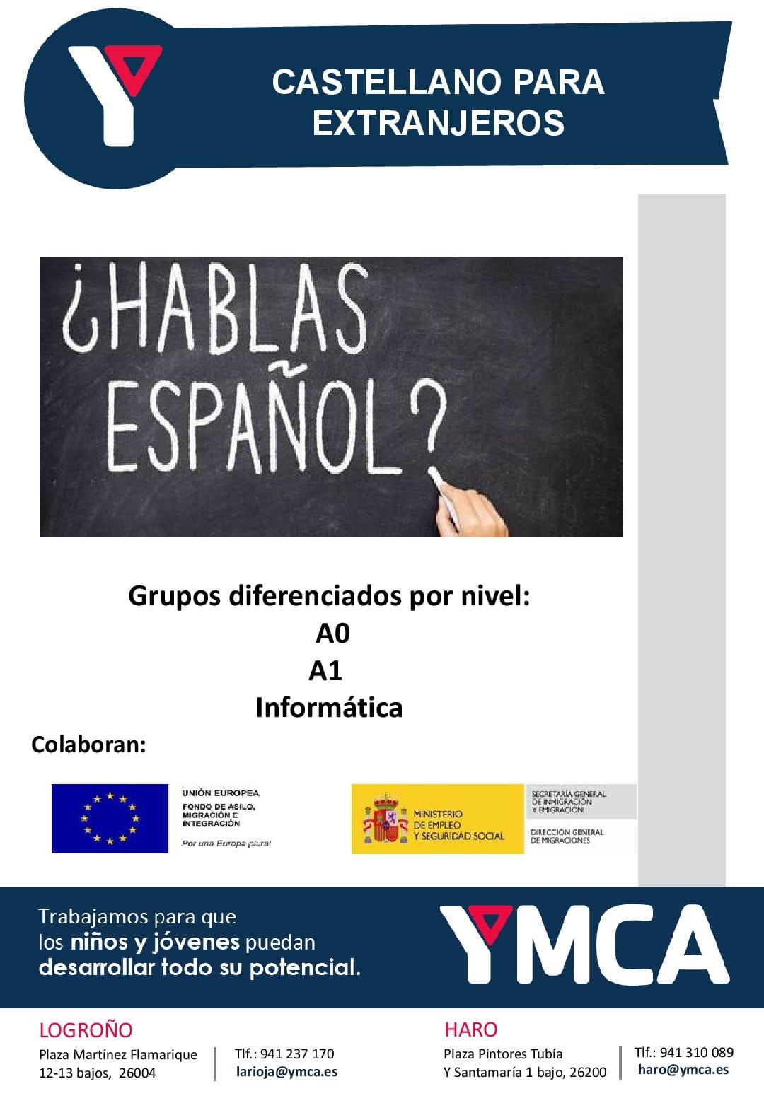 YMCA Haro organiza un curso de español para extranjeros 1