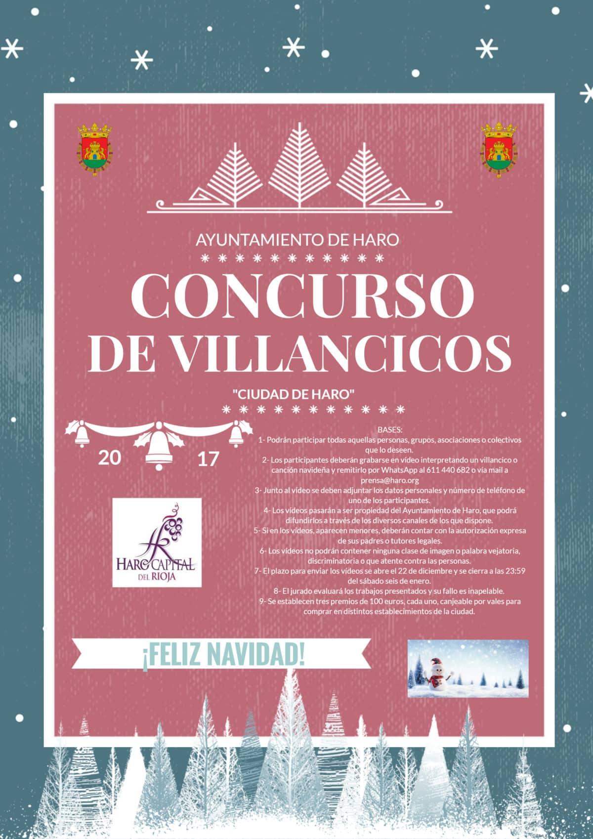 El Ayuntamiento de Haro lanza un Concurso de Villancicos con 300 euros en premios 3