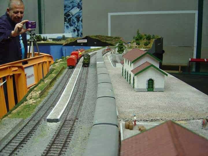 El puente sobre el río Tirón en Haro, una de las novedades de la exposición de la Asociación de Amigos del Ferrocarril 9