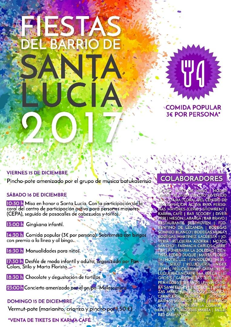 Este viernes se inician las Fiestas del Barrio de Santa Lucía con un 'pincho-pote' 2