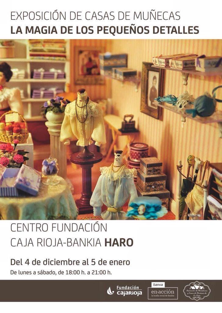 'La magia de los pequeños detalles', muestra de miniaturas en el Centro Fundación Caja Rioja-Bankia de Haro 1