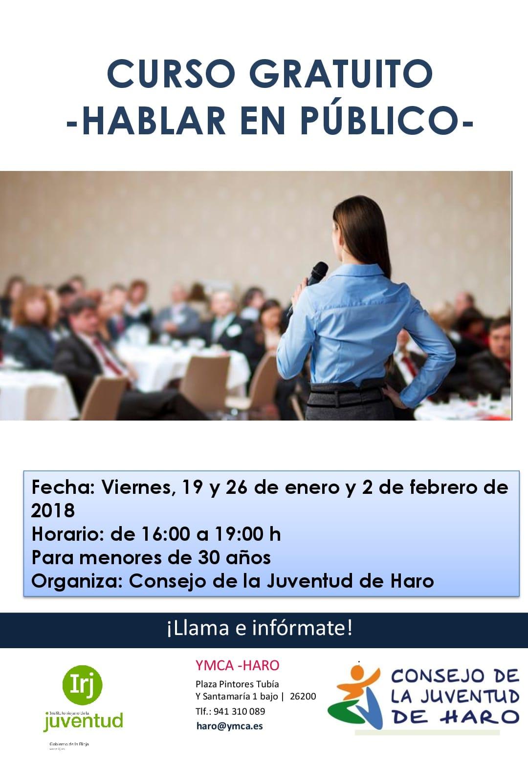 El Consejo de la Juventud de Haro organiza un taller para aprender a hablar en público 1