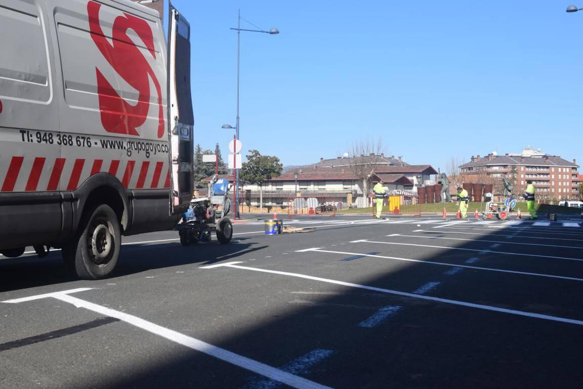 La nueva calle Julián Fernández Ollero: más de 40 plazas en batería marcha atrás 1