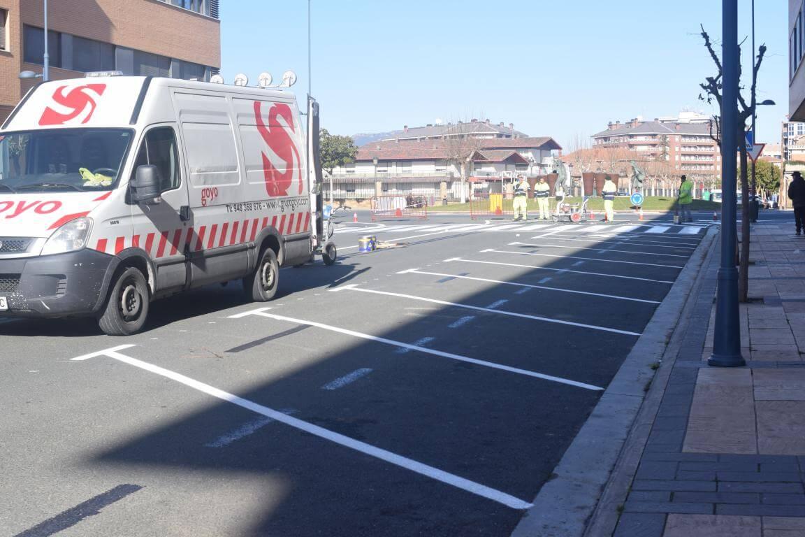 La nueva calle Julián Fernández Ollero: más de 40 plazas en batería marcha atrás 2