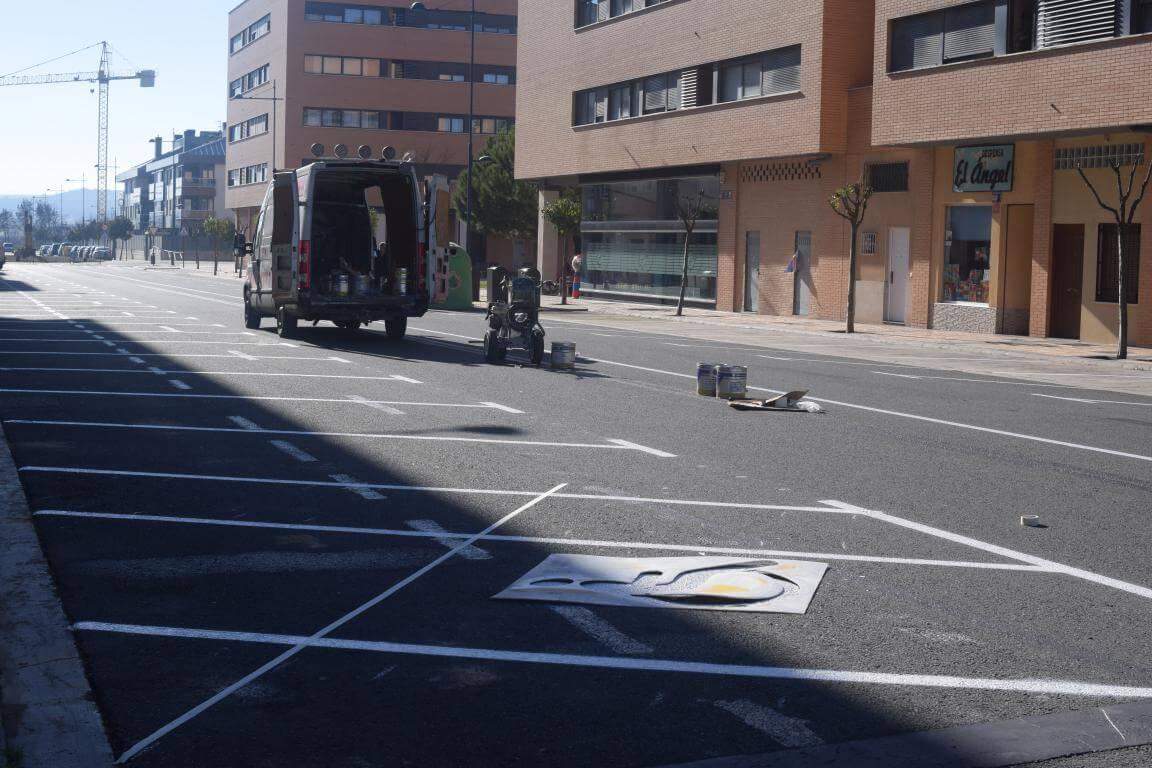 La nueva calle Julián Fernández Ollero: más de 40 plazas en batería marcha atrás 3