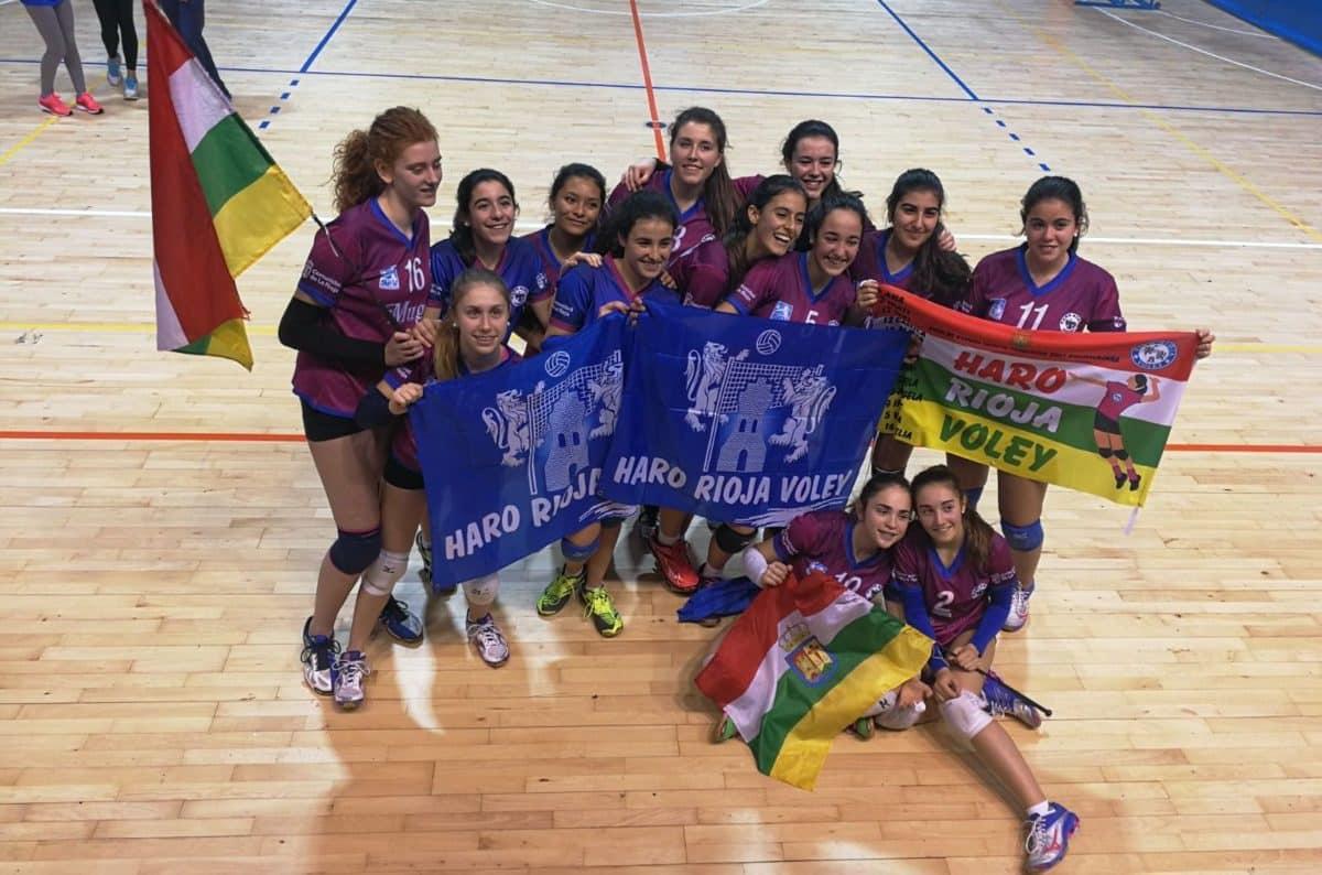 Las cadetes del Haro Rioja Voley, séptimas en la Copa de España de Guadalajara 2