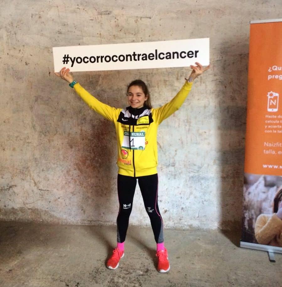Unos 400 corredores desafían a la nieve y el frío para correr contra el cáncer infantil en Rodezno 11