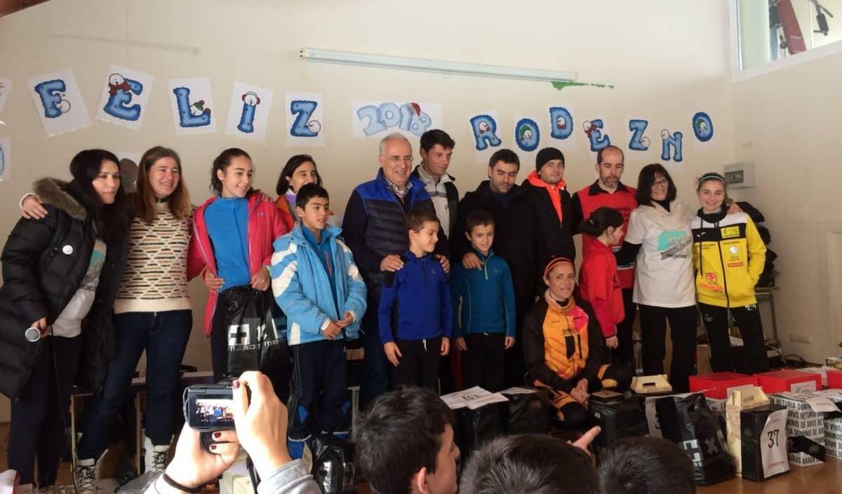 Unos 400 corredores desafían a la nieve y el frío para correr contra el cáncer infantil en Rodezno 8