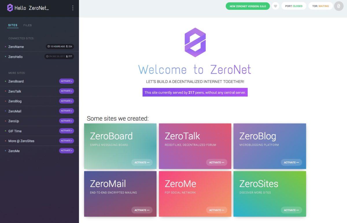ZeroNet, el otro Internet cifrado y seguro que no conocías 1