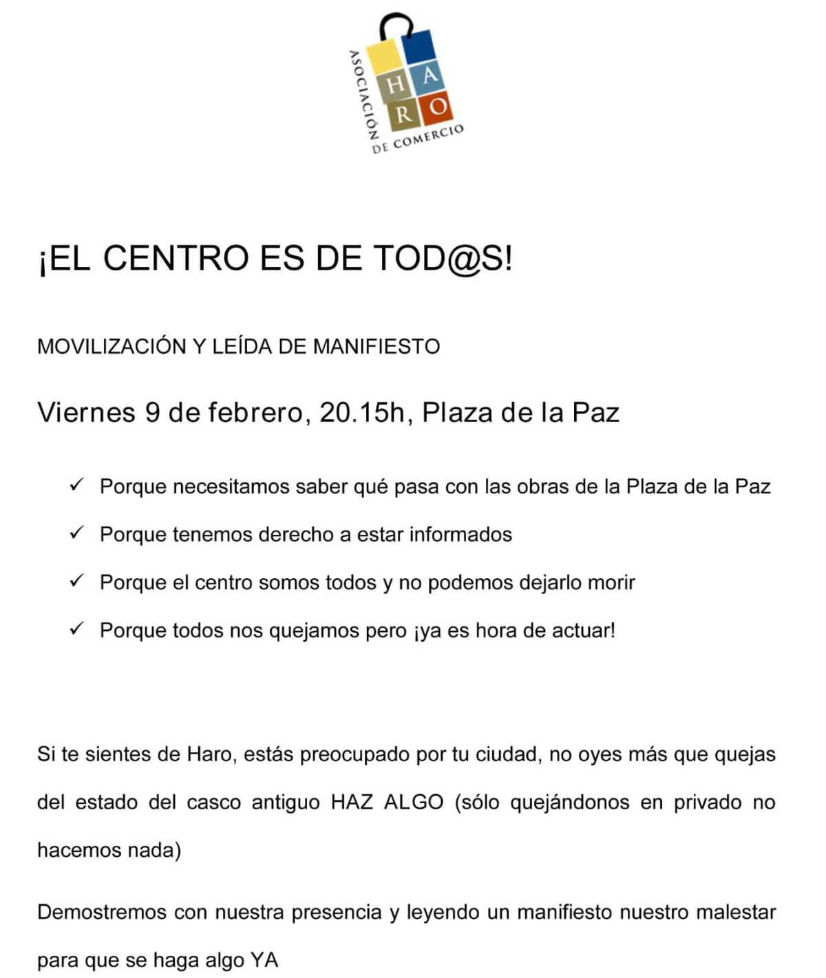 ACCIRA convoca una movilización en respuesta a los retrasos de las obras de la plaza de la Paz 3