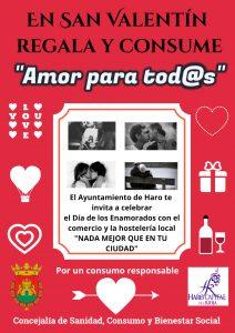 El Ayuntamiento de Haro lanza una campaña de apoyo al comercio por San Valentín 1