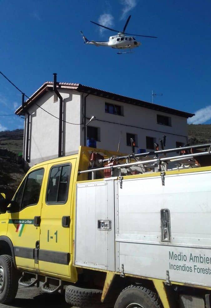 Rescatado un montañero herido en el Alto de la Mesa en la Sierra de Cebollera 2
