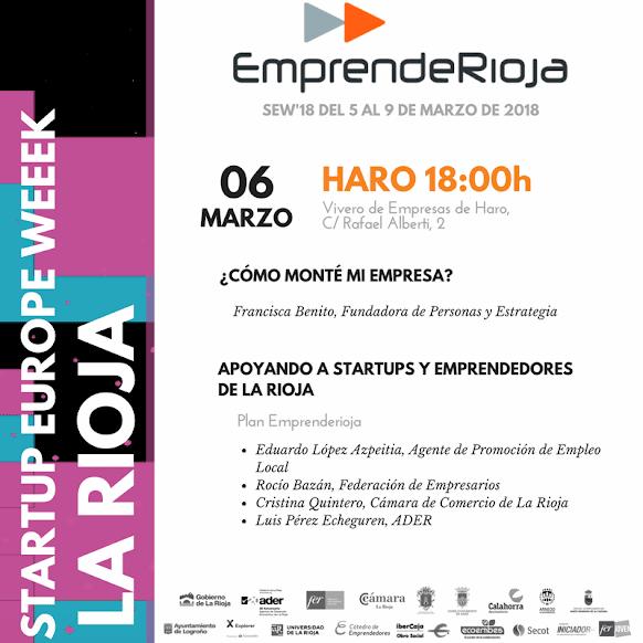 '¿Cómo monté mi empresa?', la nueva iniciativa de EmprendeRioja en Haro 1