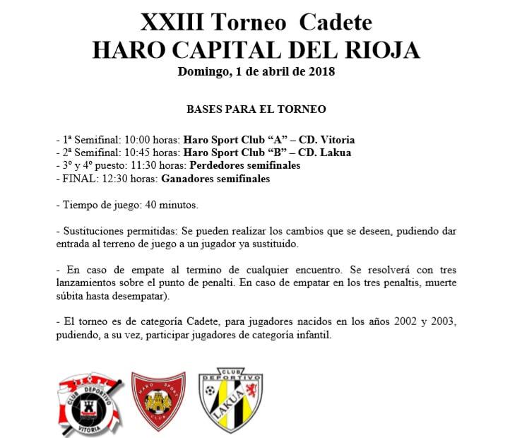 El Ferial acoge en Semana Santa el Torneo Haro Capital del Rioja del Haro Sport Club 5