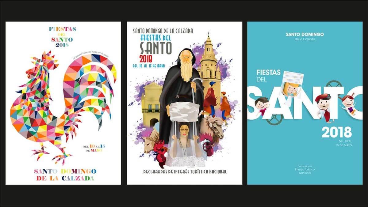 Los Tres Finalistas Del Concurso Del Cartel De Las Fiestas Del Santo