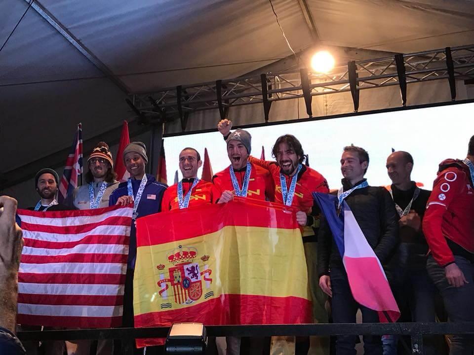 Nacho Hernando, cuarto en el Mundial de Raquetas de Nieve disputado en Cantabria 1
