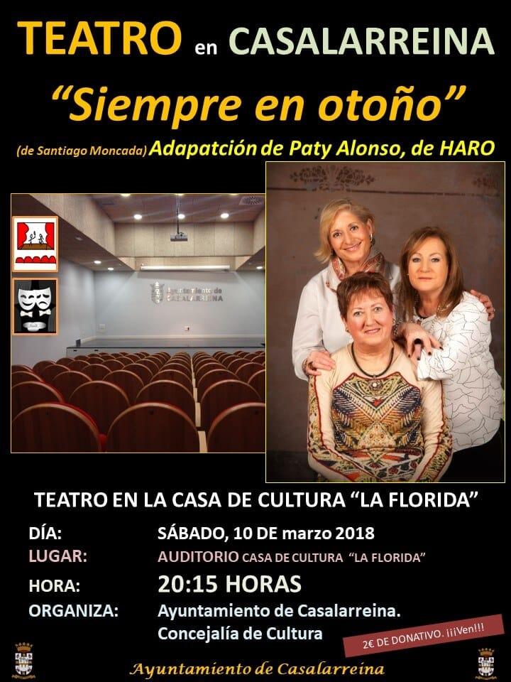 Paty Alonso pone en escena 'Siempre en otoño' este sábado en Casalarreina 1