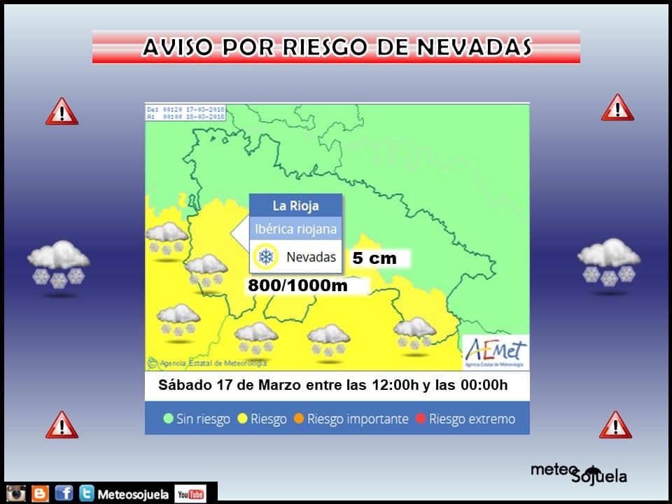 Riesgo de nevadas en la Ibérica riojana: activado el nivel amarillo 1