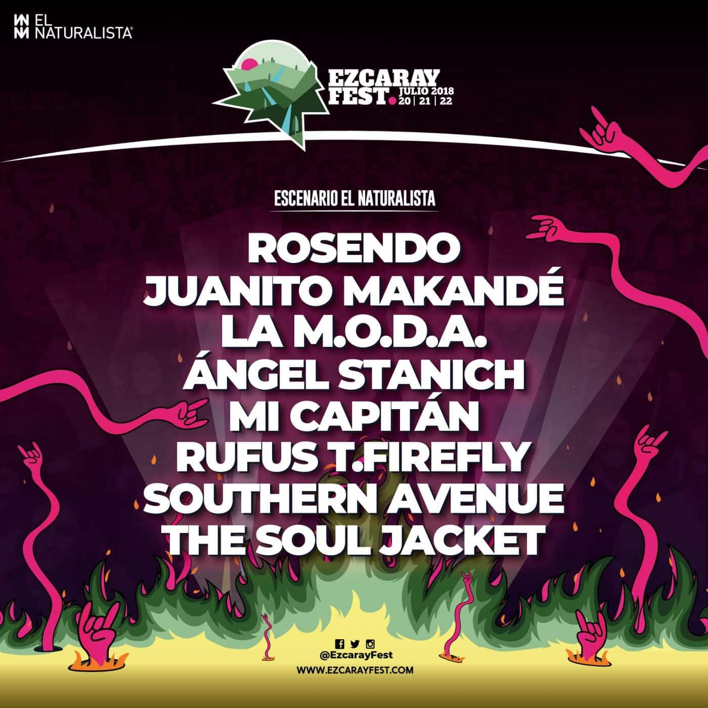 Rosendo, Juanito Makandé, Mi Capitán, Southern Avenue y The Soul Jacket cierran el cartel de Ezcaray Fest 2018 1