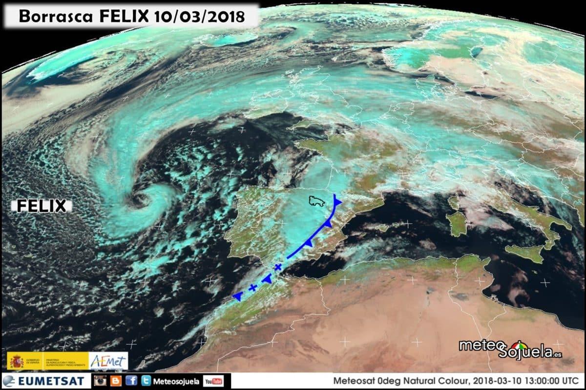 Tras el paso de 'Félix', llega 'Gisele': tiempo revuelto y variable 2