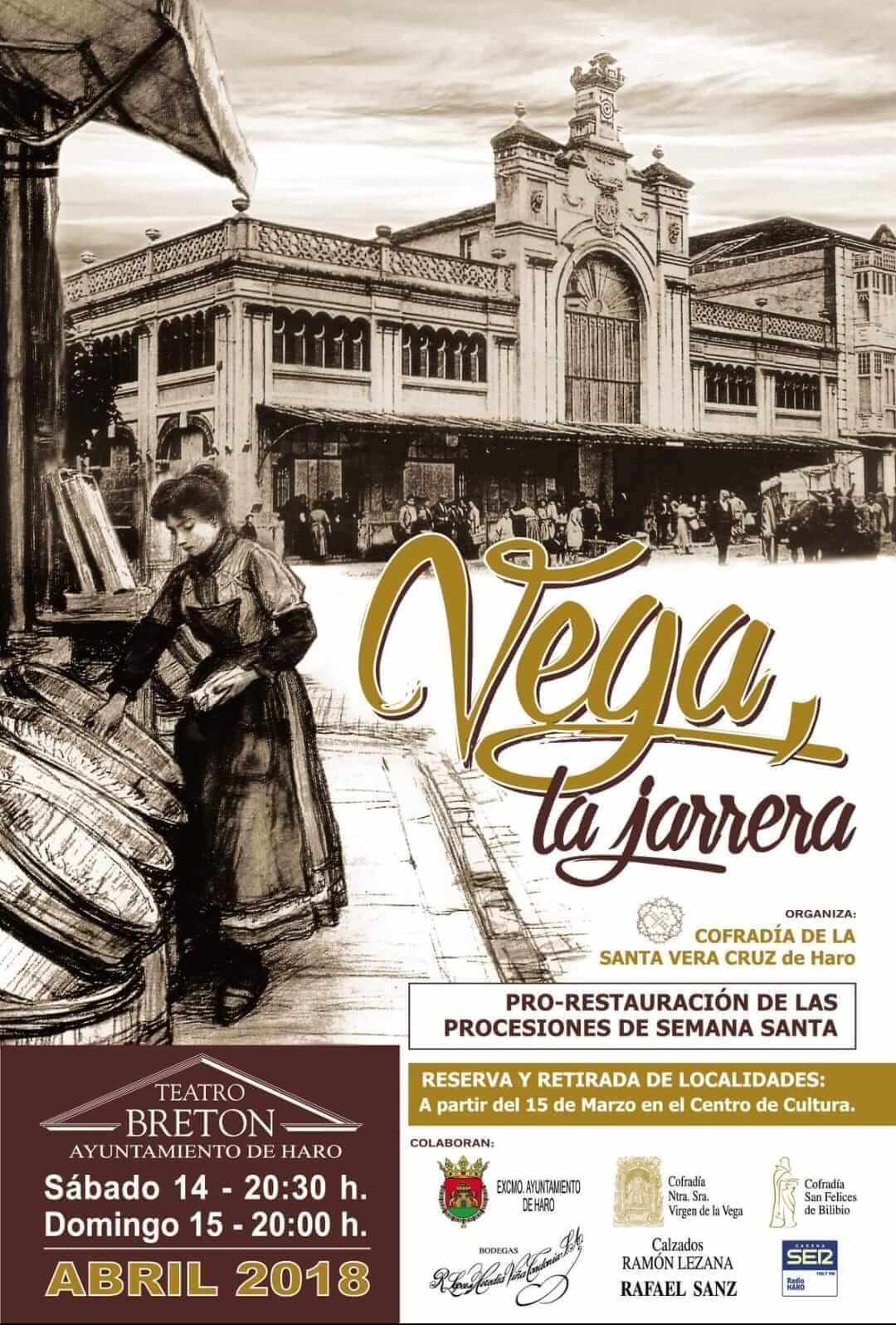 'Vega, la jarrera', los días 14 y 15 de abril en el Bretón 1