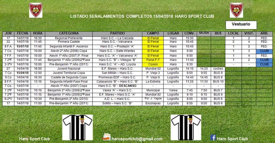 Derbi entre el Haro Sport Club y La Calzada con mucho en juego 1