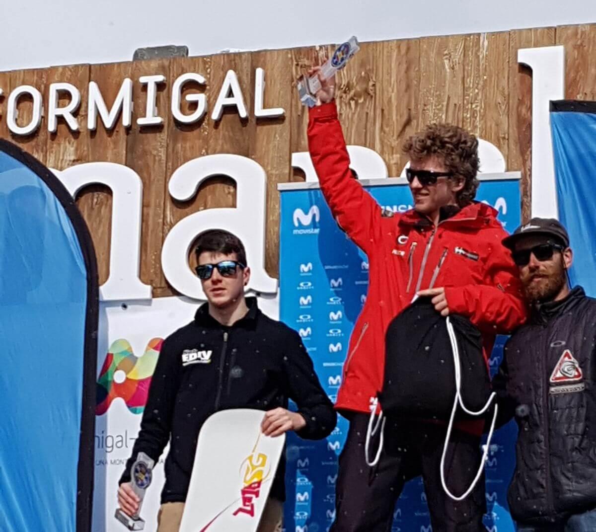 La jarrera Blanca Capellán, campeona de España de skicross en Aramón Formigal 1
