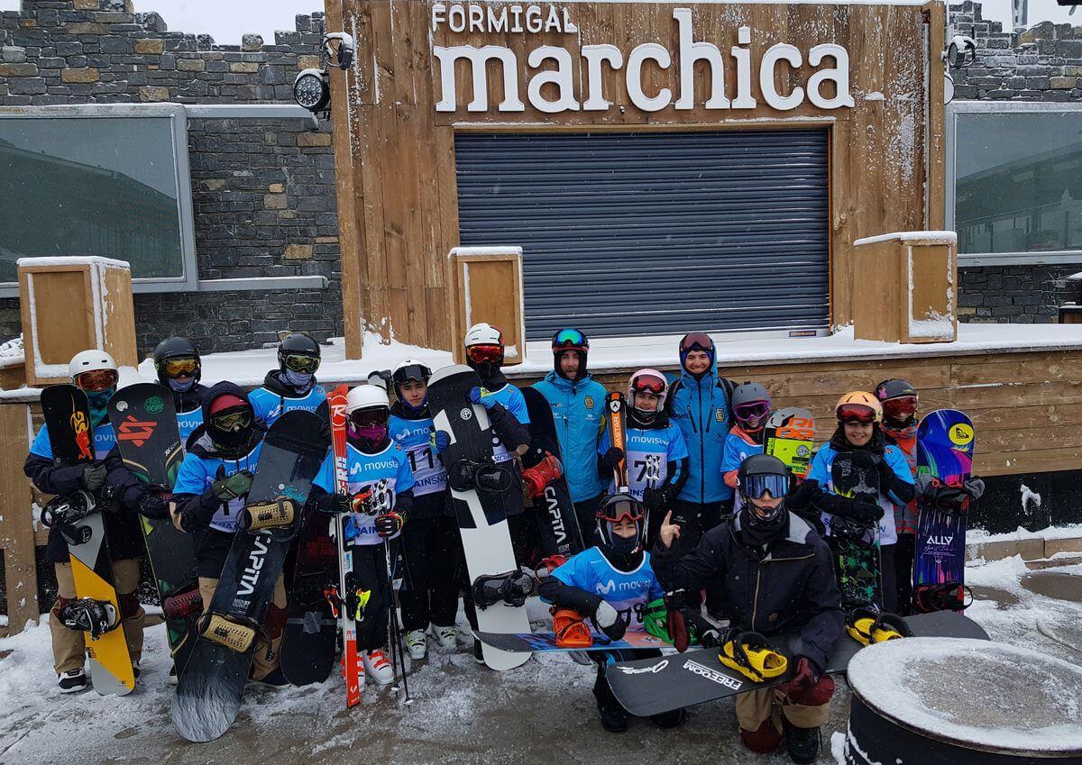 La jarrera Blanca Capellán, campeona de España de skicross en Aramón Formigal 2
