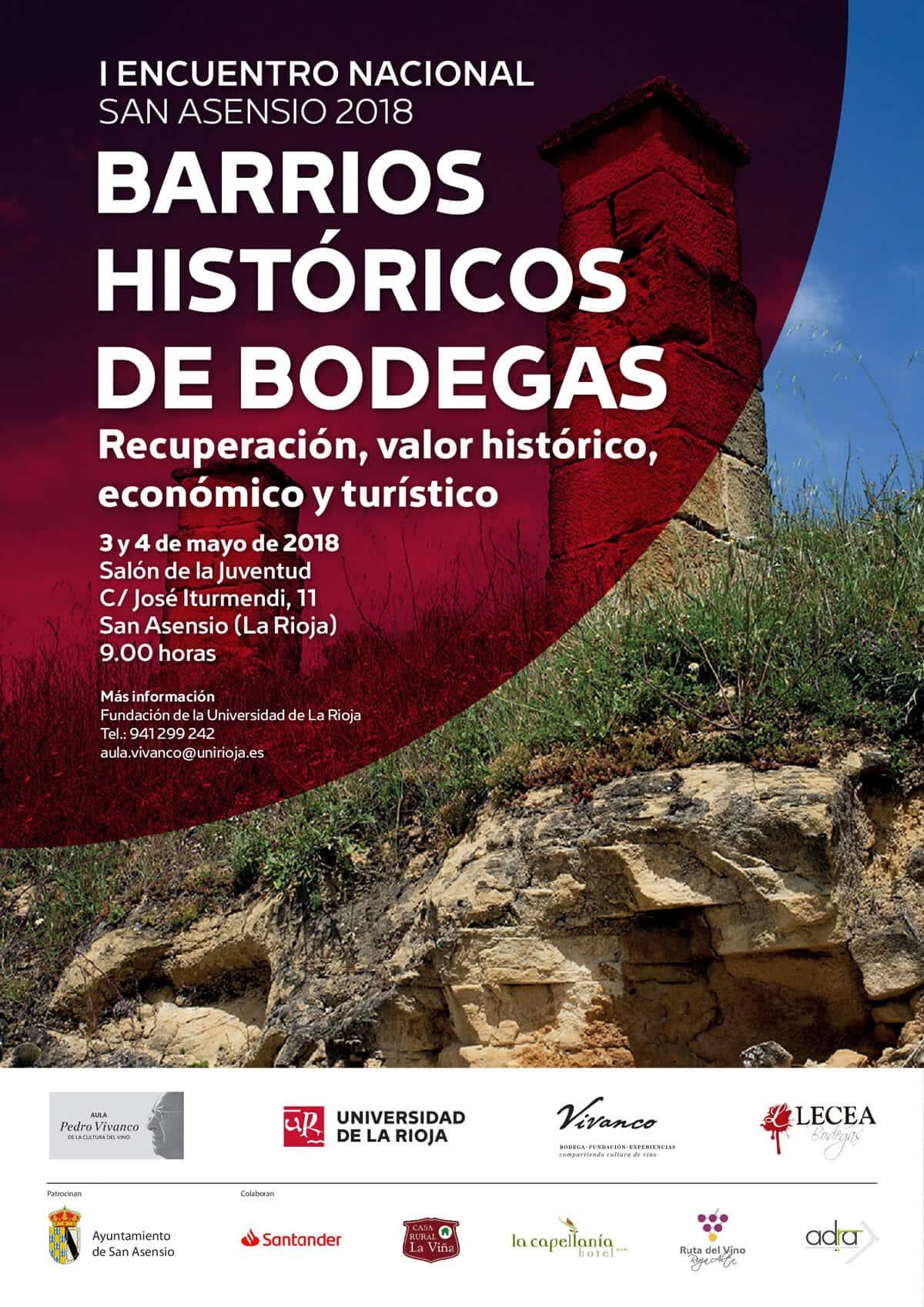 San Asensio acogerá el primer Encuentro Nacional de Barrios Históricos de Bodegas 1