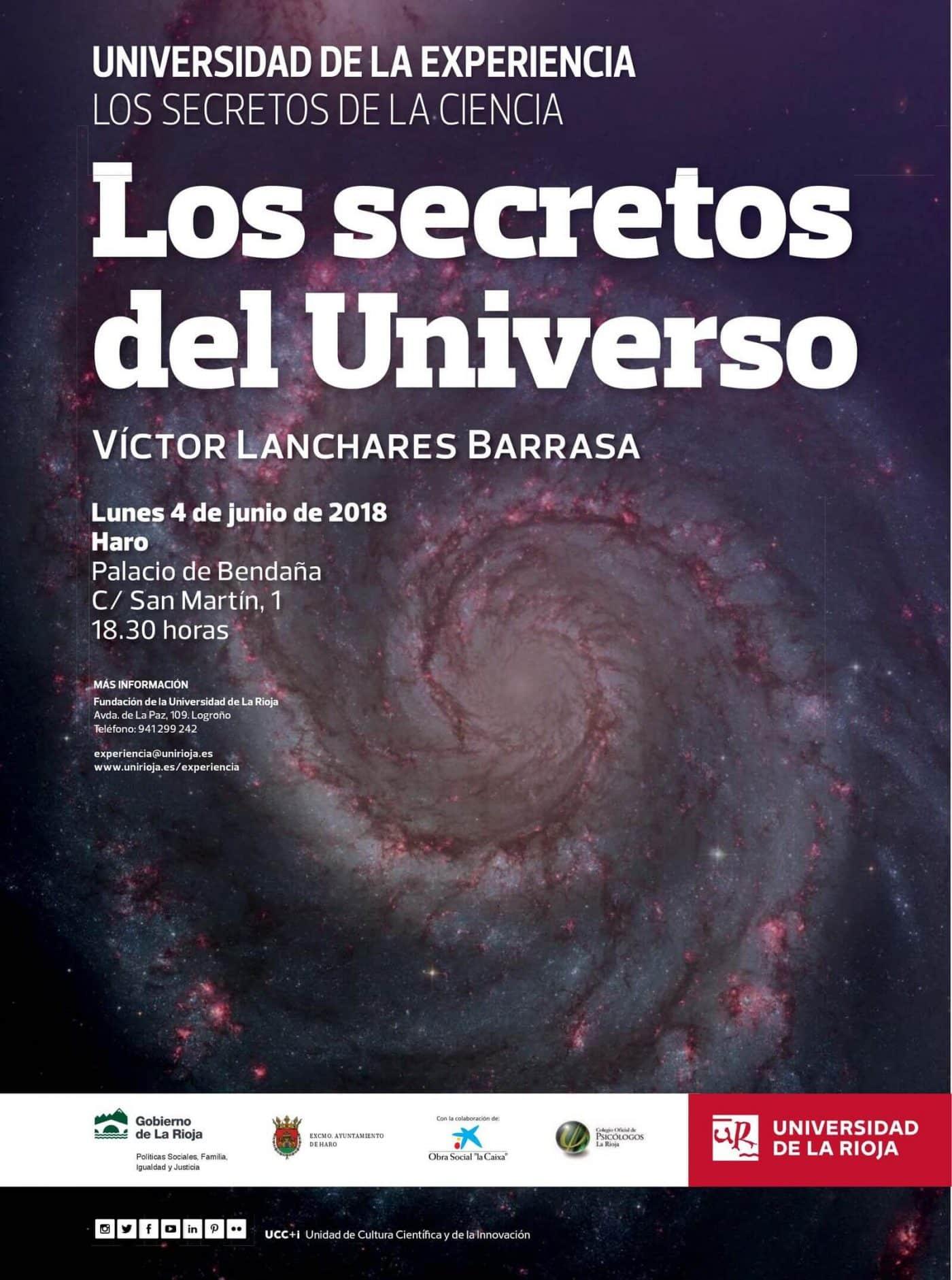 Conferencia sobre 'Los secretos del universo', el próximo 4 de junio en el Palacio de Bendaña 2
