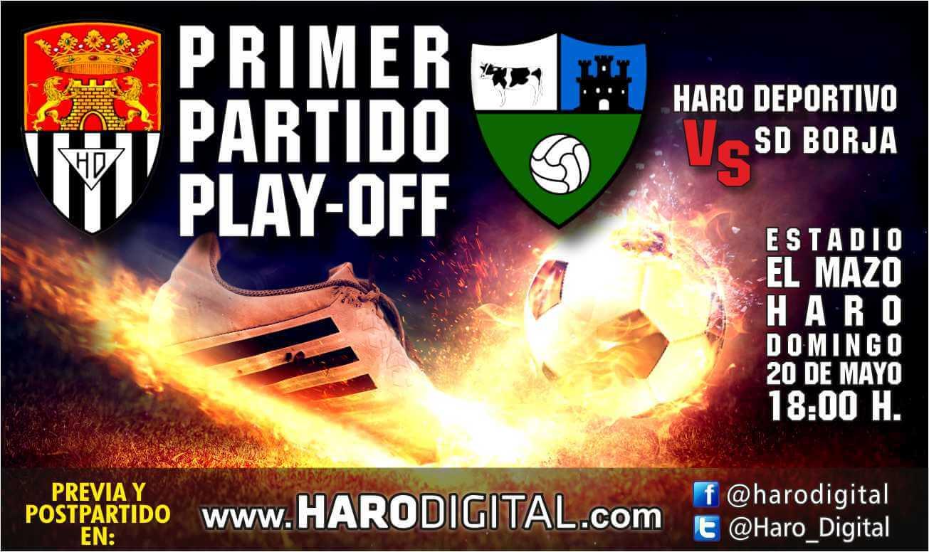 La afición del Haro ya se prepara para el partido de vuelta en Borja 1