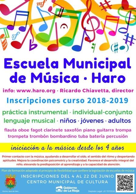 La Escuela Municipal de Música abre las inscripciones el próximo 4 de junio 1
