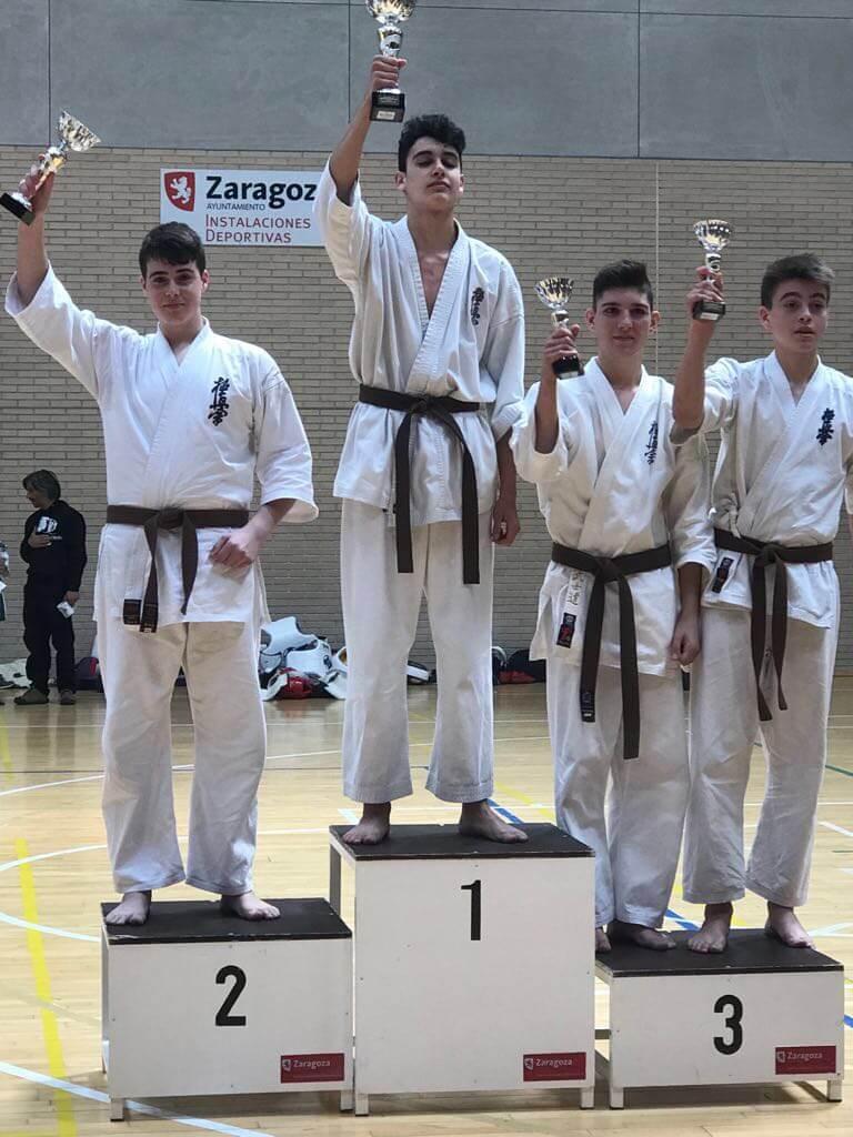 Ocho trofeos para el Kyoku Haro en la Copa Interautonómica de Zaragoza 1