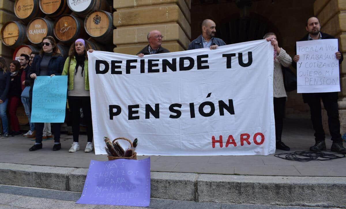 """Rap y chorizo para protestar en Haro """"por unas pensiones dignas"""" 1"""