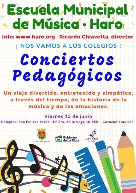 Chiavetta lleva la música clásica a los centros escolares de Haro 1