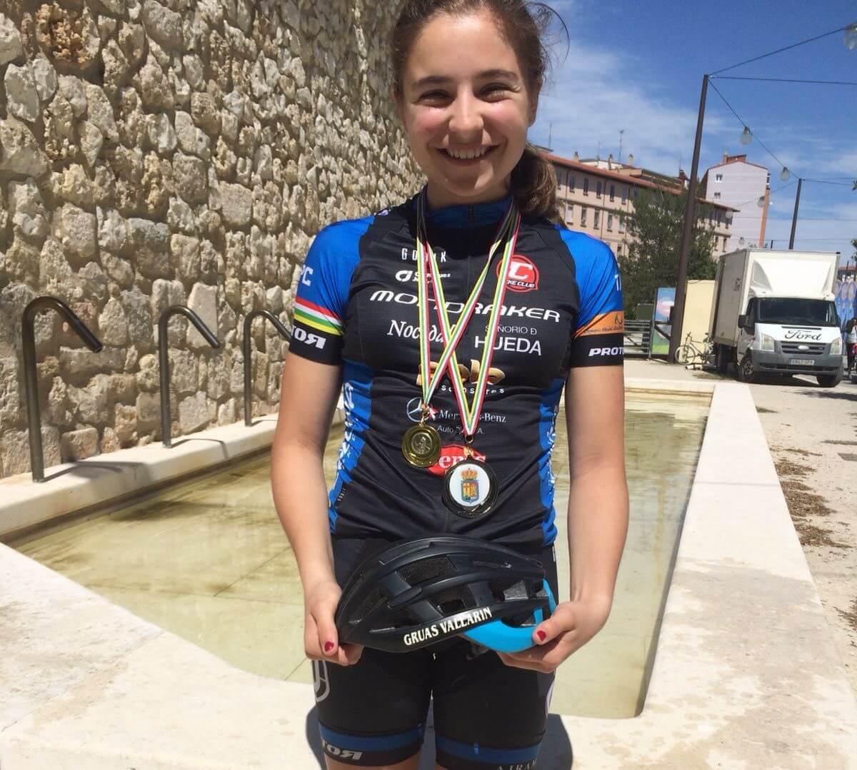 La jarrera María López, subcampeona de La Rioja de BTT 2
